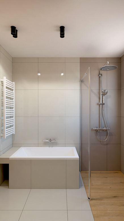 Mała wanna i prysznic - praktyczna łazienka