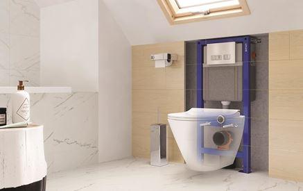 Stelaż podtynkowy w łazience pod skosami