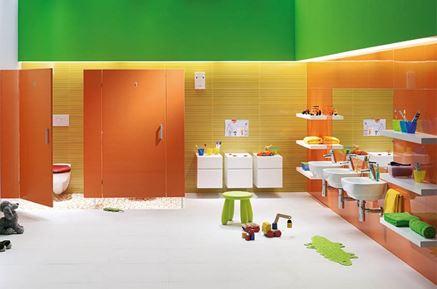 Kolorowa łazienka dla dzieci Koło Nova Pro Junior