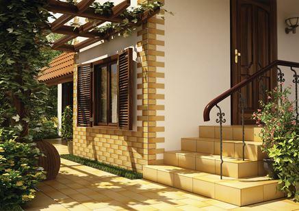 Projekt domu z płytkami klinkierowymi Cerrad Gobi