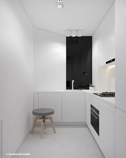 Aneks kuchenny w kawalerce w stylu loft