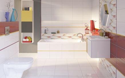 Kolorowa łazienka w nowoczesnym stylu