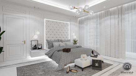 Przestronna sypialnia w bieli