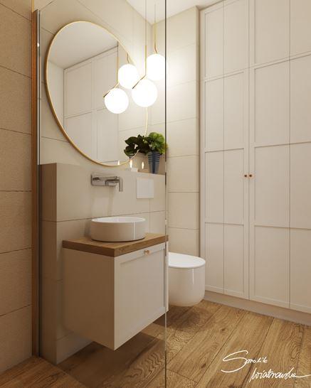 Mała łazienka w modnej bieli