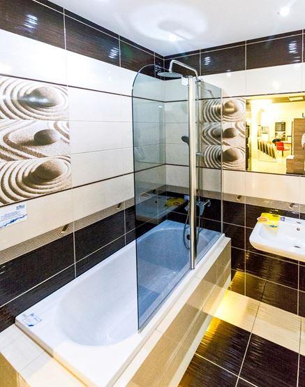 Aranżacja łazienki w płytkach Domino Elida