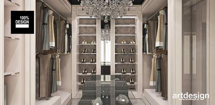 Garderoba w odcieniach kremu