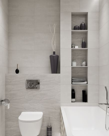 Stonowane kolory w aranżacji łazienki