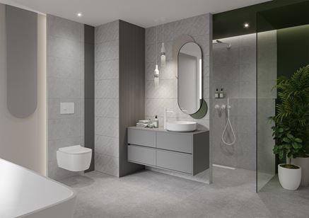 Aranżacja nowoczesnej łazienki w szarym kolorze
