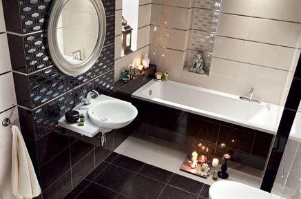 Łazienka połyskliwymi dekorami Domino Opium