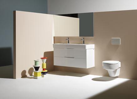 Beżowa łazienka z umywalką dla dwojga