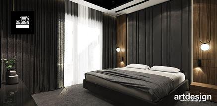 Grafitowa sypialnia z dodatkiem drewna