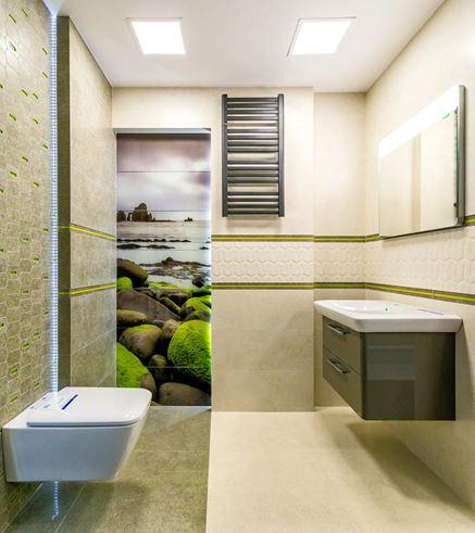 Projekt łazienki z kolekcją Tubądzin Lemon Stone