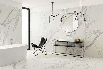 Marmurowa łazienka Tubądzin Specchio Carrara