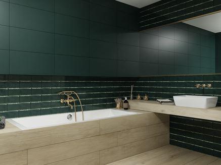 Aranżacja łazienki w zielonej kolorystyce