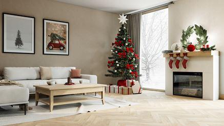 Świąteczny salon w ciepłych barwach