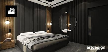 Nastrojowa sypialnia w ciemnych kolorach