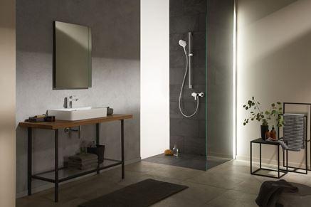 Nowoczesna łazienka w stonowanych kolorach