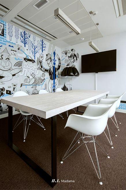 Sala konferencyjna biura Facebooka w Warszawie