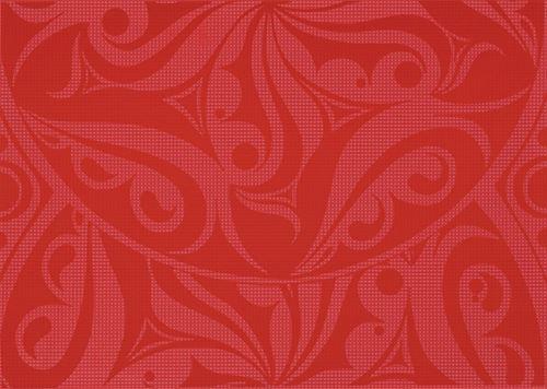 Cersanit Optica red inserto circles WD240-008