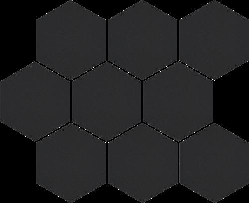 Cerrad Mozaika heksagon Cambia black lappato 36729