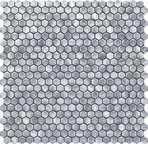 Tubądzin Elements Drops Metal Silver