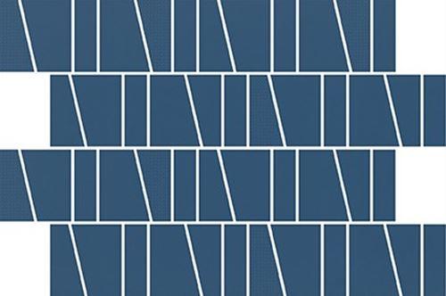 Cersanit Zambezi blue trapeze mosaic matt WD942-015