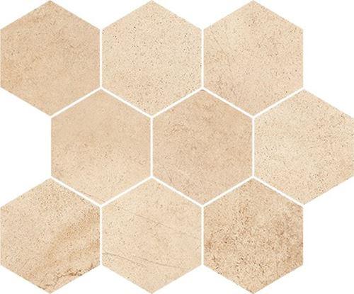 Opoczno Sahara Desert Mosaic Hexagon OD358-013