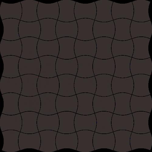 Paradyż Modernizm Nero Mozaika Prasowana K.3,6X4,4