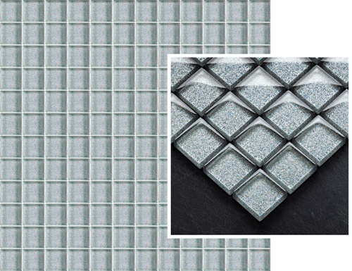 Paradyż Uniwersalna Mozaika Szklana Silver Brokat