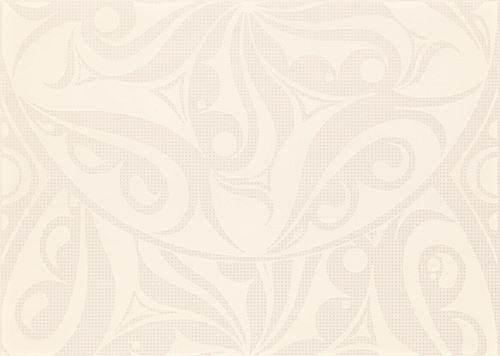 Cersanit Optica white inserto circles WD240-006