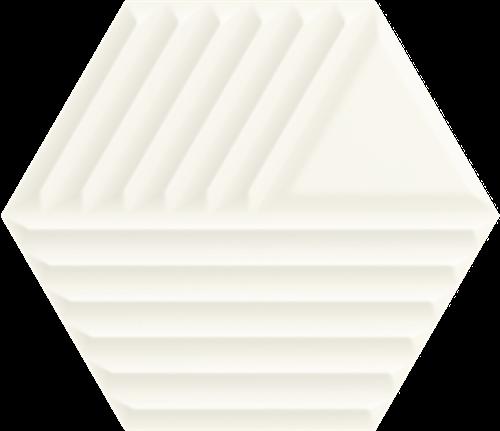 Paradyż Woodskin Bianco Heksagon Struktura C Ściana