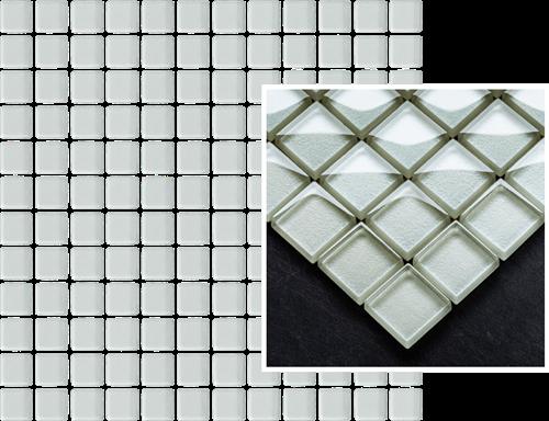 Paradyż Uniwersalna Mozaika Szklana Ivory