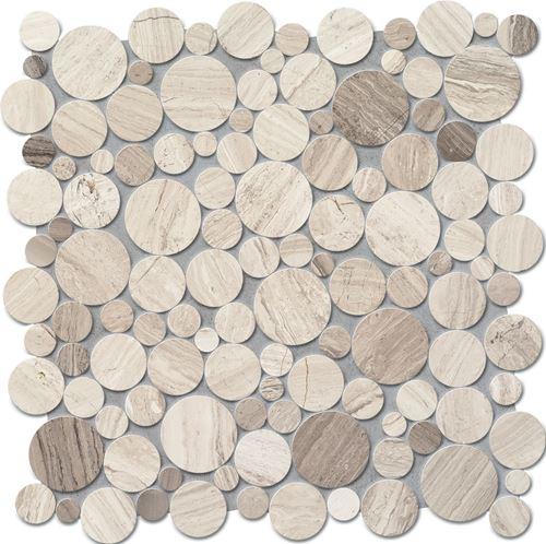 Tubądzin Elements Drops Stone Grey Circle