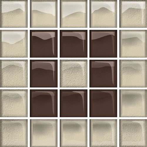 Opoczno Glass Beige/Brown Mosaic B New OD660-125