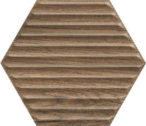 Paradyż Serene Brown Heksagon Struktura Ściana