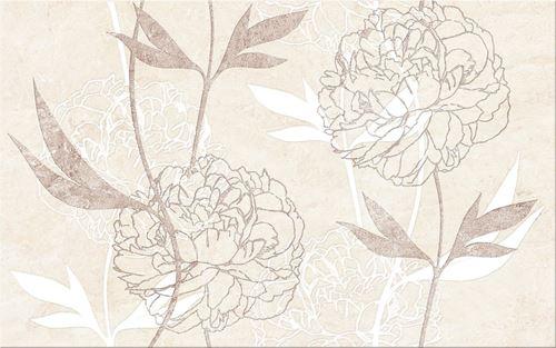 Cersanit Ferrata beige inserto flower WD953-006