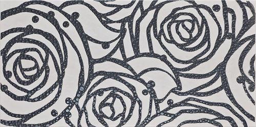 Cersanit Modena grey inserto rose WD242-016