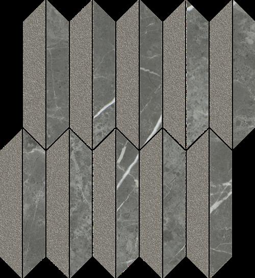 Paradyż Noisy Whisper Graphite Mozaika Cięta Mix Mat