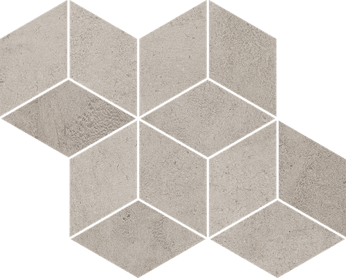 Paradyż Pure City Grys Mozaika Prasowana Romb Hexagon