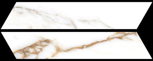 Azario Chevron Calacatta Gold Mat
