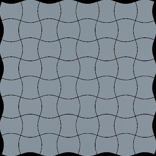 Paradyż Modernizm Blue Mozaika Prasowana K.3,6X4,4