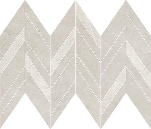 Cersanit Manzila grys chevron mix mosaic matt WD1016-012