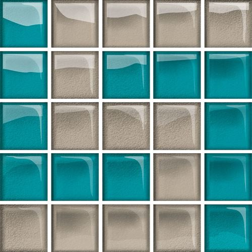 Opoczno Glass Azure/Dark Beige Mosaic D New OD660-131