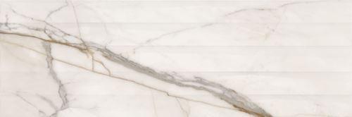 Opoczno Cosima White Structure Satin NT099-002-1