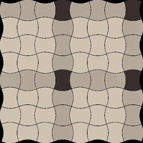 Paradyż Modernizm Grys Mozaika Prasowana K.3,6X4,4 Mix A