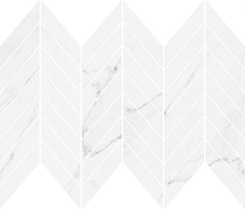 Cersanit Marinel white chevron mosaic glossy WD937-014