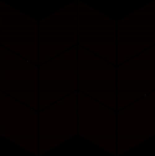 Paradyż Uniwersalna Mozaika Prasowana Nero Paradyż Romb Braid