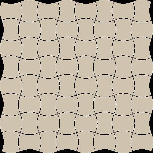 Paradyż Modernizm Bianco Mozaika Prasowana K.3,6X4,4