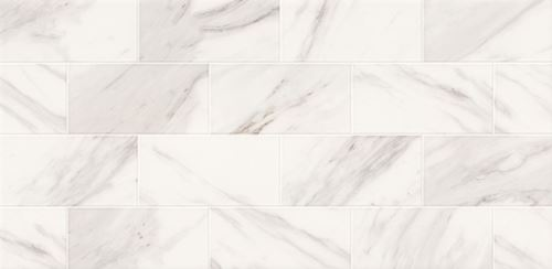 Opoczno Marble Charm White Glossy Geo OP985-002-1