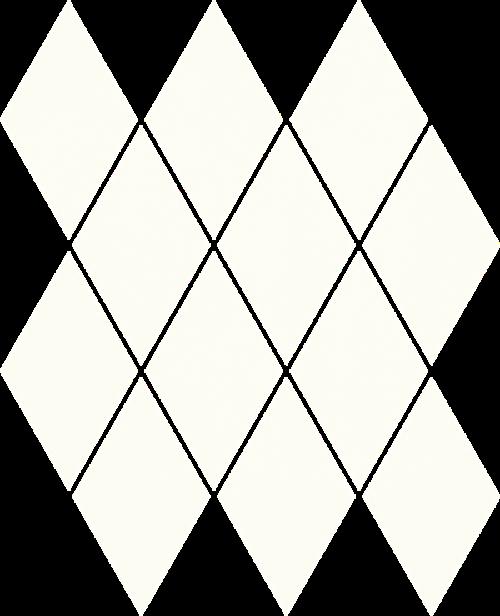 Paradyż Uniwersalna Mozaika Prasowana Bianco Paradyż Romb Pillow